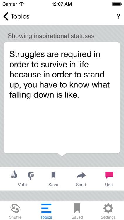 Status Shuffle for Facebook screenshot-3