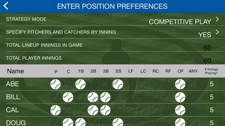 Play Ball Lineup  - Youth Baseball and Softball Lineup Maker screenshot-3