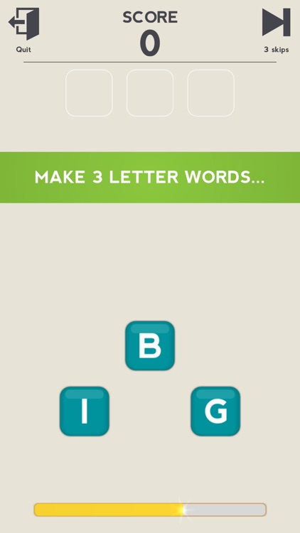 3 Little Letters - Unscramble Text to Find Words
