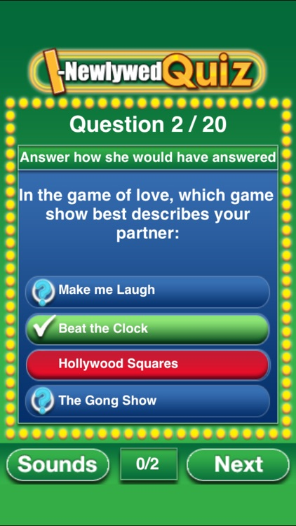 The I-Newlywed Quiz screenshot-3