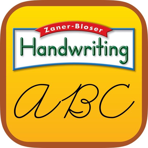 Zaner bloser cursive writing