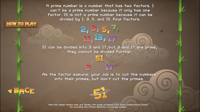 ‎Factor Samurai - Multiply and Divide your way to Times Tables Mastery Screenshot