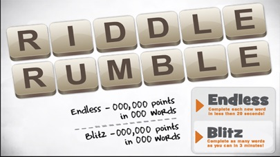 Riddle Rumble - Learn And Scramble English Words screenshot one