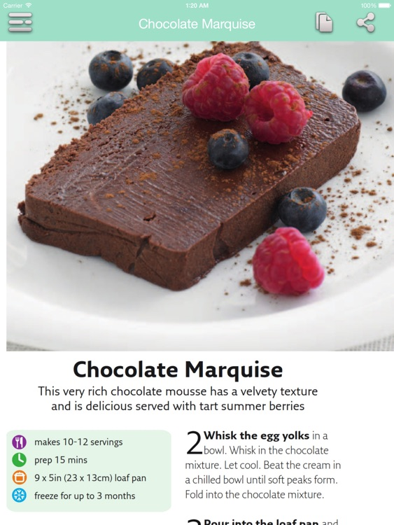 Dessert Recipes - Quick and Easy for iPad