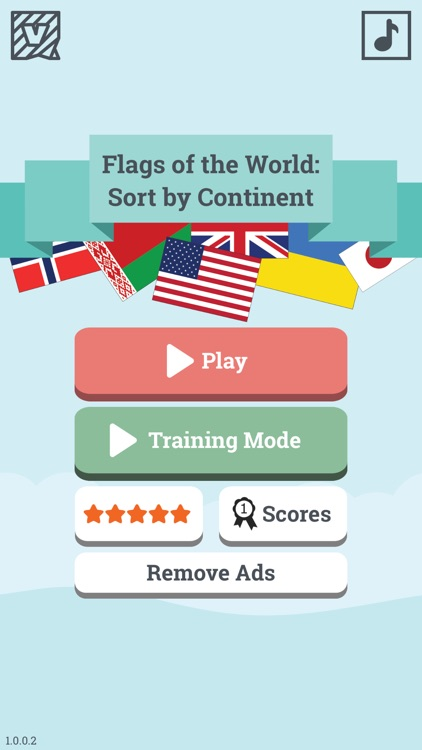Flags of the World: Sort by Continent - learn geography & countries game