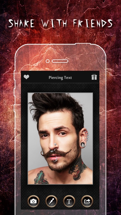 Piercing & Tattoo Booth FREE - Add Virtual Piercings & Tattoos to make body art inked or pierced screenshot-4