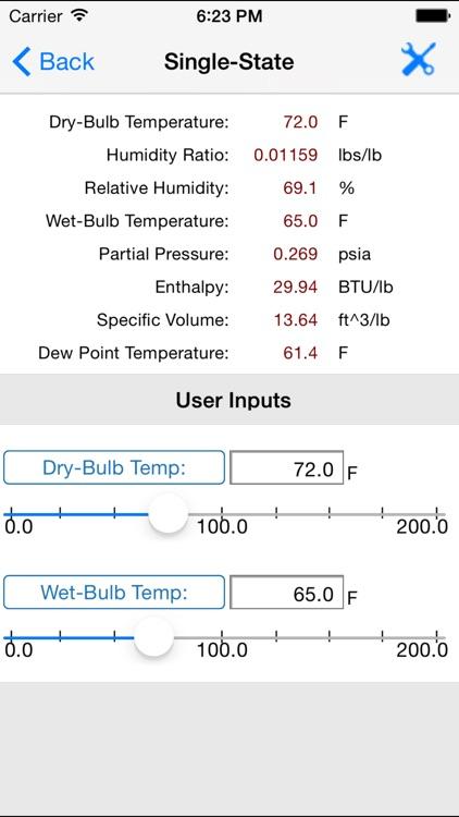 HVAC Psychrometric Plus screenshot-4