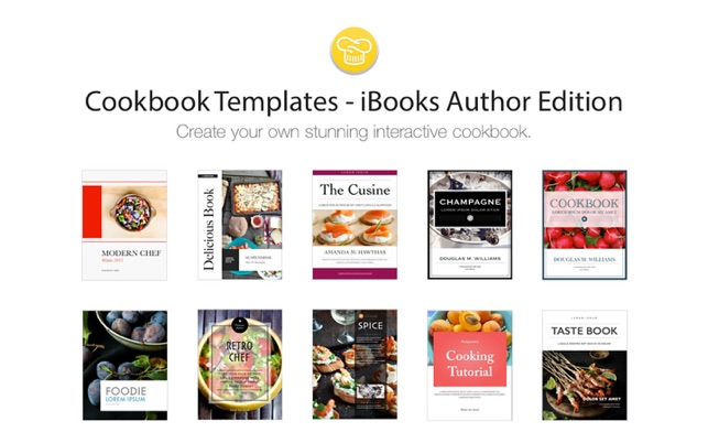 cookbook template mac cookbook templates ibooks author edition on the mac app store