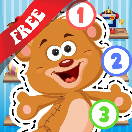 Free Kids Toys Puzzle Teach me Tracing and Counting - Learn about teddy bears and dolls for boys and girls icon