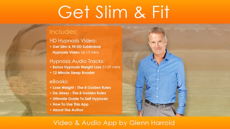 Get Slim & Fit with  Glenn Harrold's amazing Hypnosis Affirmation and Subliminal HD Video APP screenshot-0