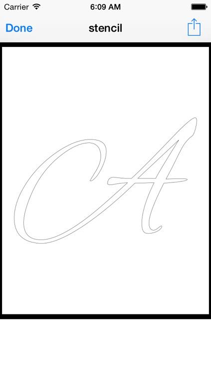 Stencil Printer: Print Full Size Art & Calligraphy Designs screenshot-3