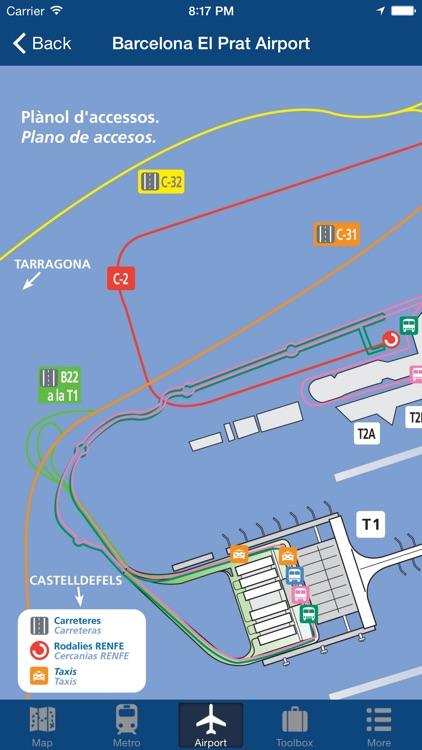Barcelona Offline Map - City Metro Airport and Travel Plan