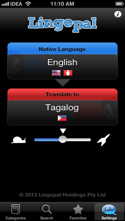 Lingopal Tagalog (Filipino) LITE - talking phrasebook