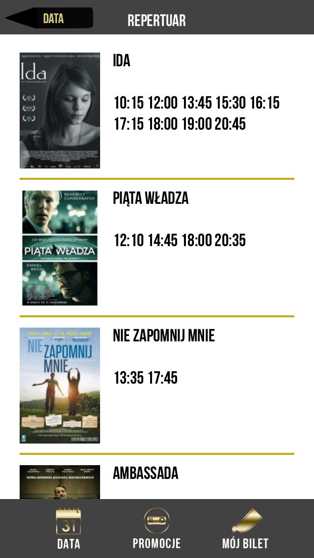 Kinoteka Bilety screenshot one