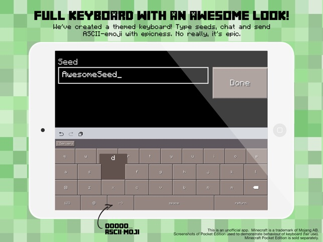 ‎PE Servers - Custom Keyboard for Minecraft Pocket Edition