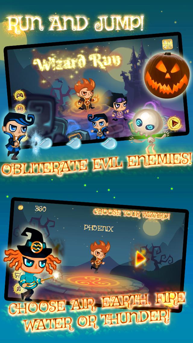 Wizard Run - Endless Magic Castle Adventure for Halloween screenshot one