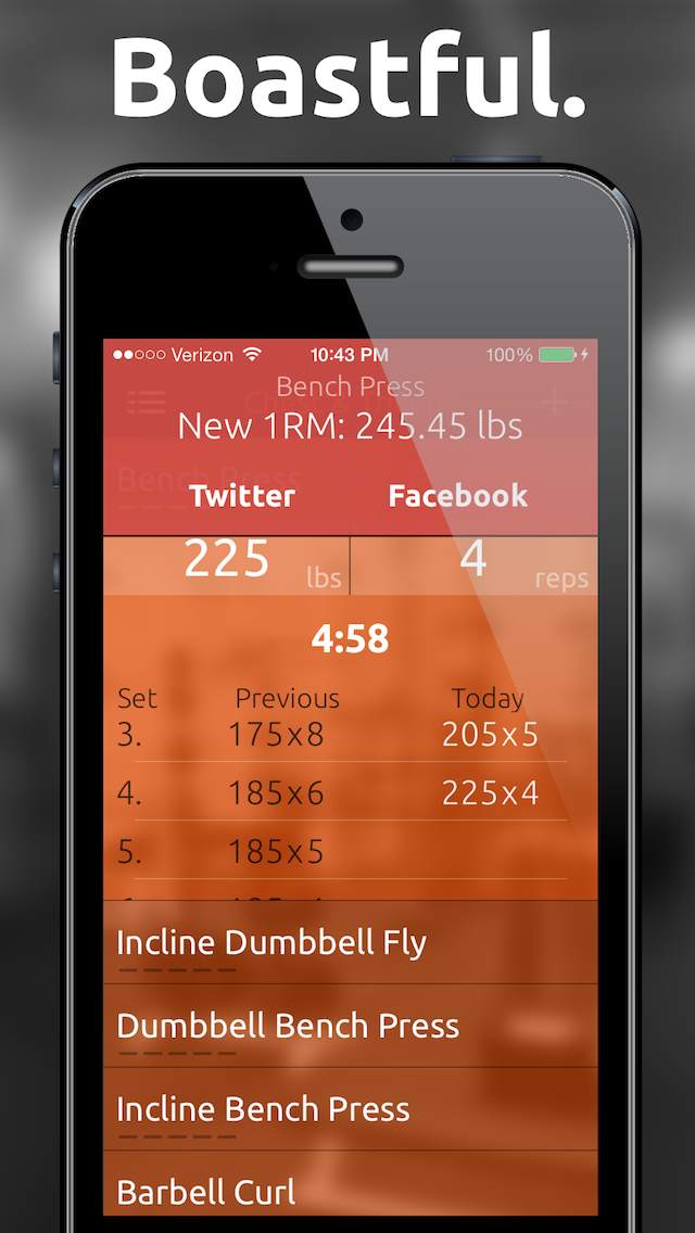 Fitted Lifts - Workout log and exercise tracker for bodybuilding and weight trainingのおすすめ画像3