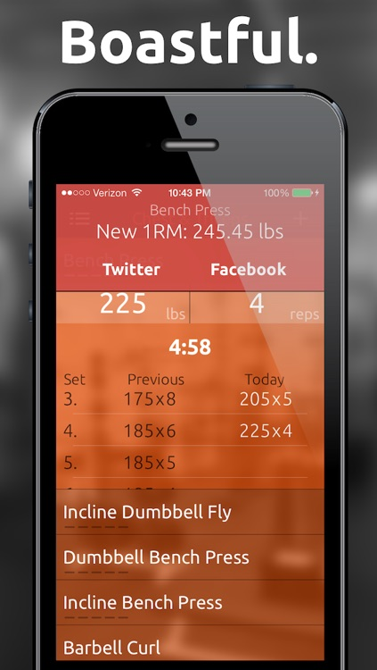 Fitted Lifts - Workout log and exercise tracker for bodybuilding and weight training screenshot-2