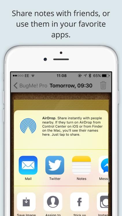 BugMe! Stickies Pro - Ink Notepad, Reminders and Alarms screenshot-3