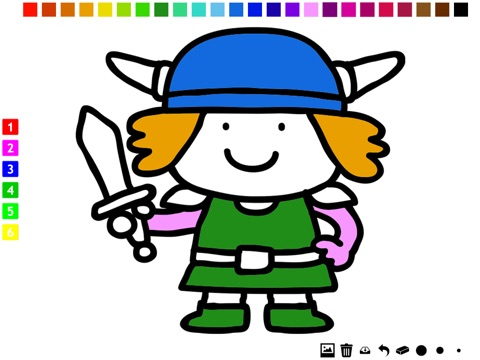 Active Vikings Coloring Book For Children Learn To Color Viking