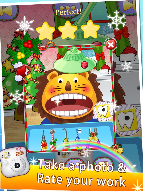 Lovely Dentist for Christmas HD - Kids Doctor screenshot-3