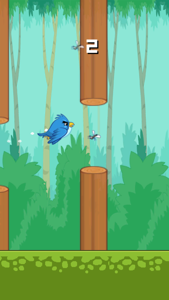 Tiny Flappy Hungry Bird - A clumsy little bird's endless