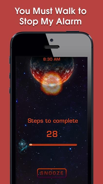 Walk Up Alarm Clock - smart anti snooze wake up