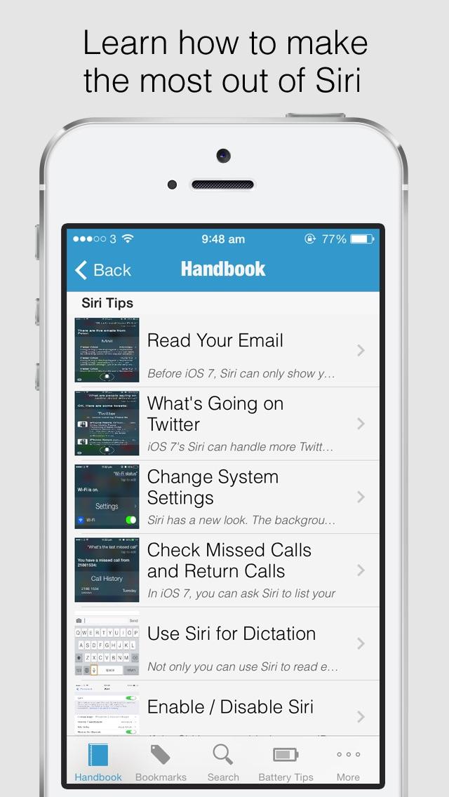 Secret Handbook for iOS 7 Lite - Tips & Tricks Guide for iPhone Screenshot