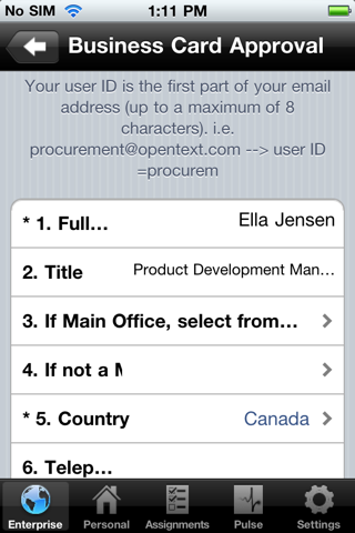 Скриншот из OpenText Everywhere