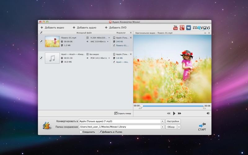 Конвертер Аудио Movavi скриншот программы 2