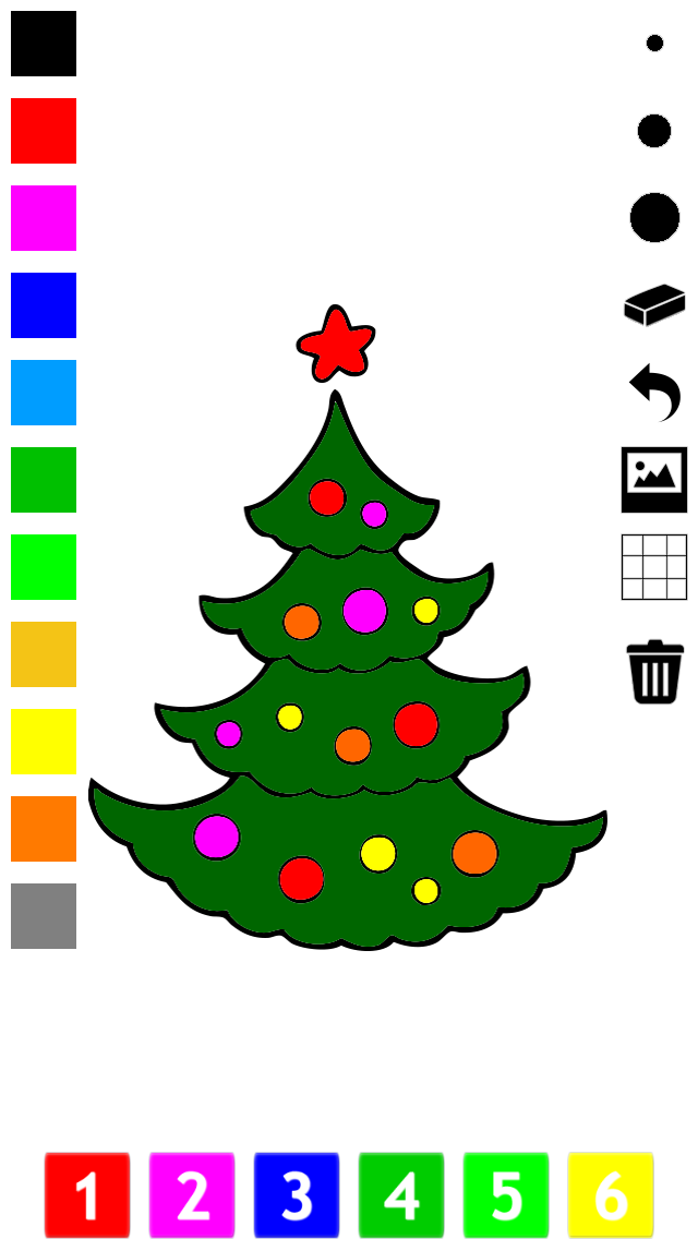 Christmas Coloring Book for Children: Learn to color the