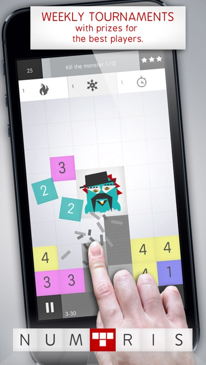 Numtris: best addicting logic number game with cool multiplayer split screen mode to play between two good friends. Including simple but challenging numeric puzzle mini games to improve your math skills. Free! screenshot-4