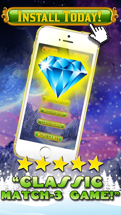 Jewel Games Candy Christmas 2013 Edition - Fun Candies and Diamonds Swapping Game For Kids HD FREE screenshot-4