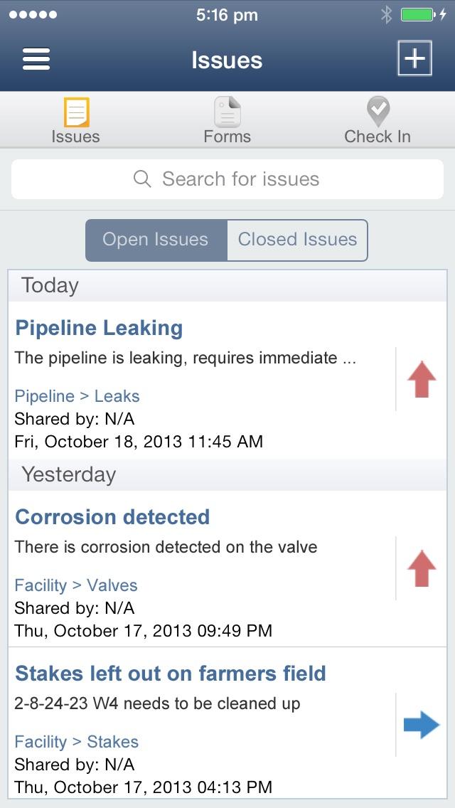 Oilfield Inspection App screenshot