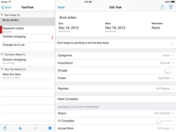 TaskTask HD for Outlook and Google Tasks