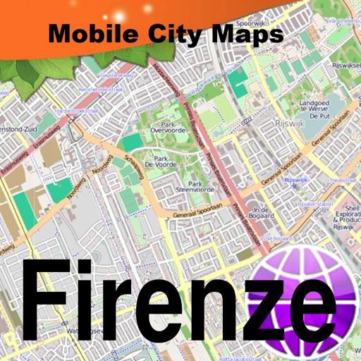 Firenze (Florence) Street Map.