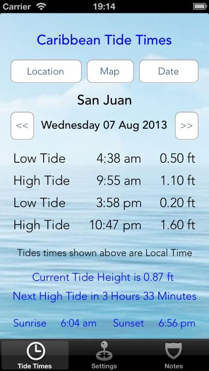 Caribbean Tide Times screenshot-4