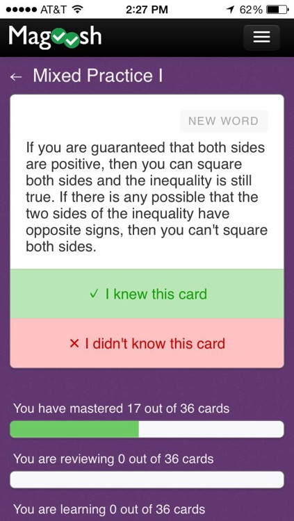 GMAT Math Flashcards from Magoosh