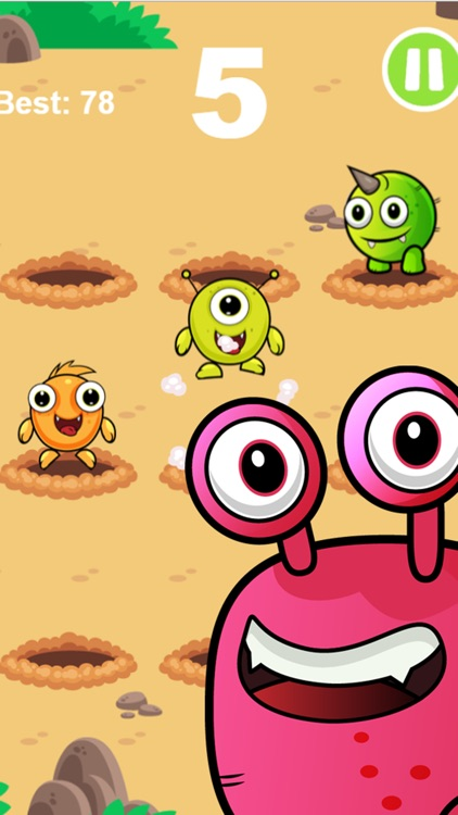 Whack An Alien Mole Invader - Smash The Cute Miner Invaders From Mars!