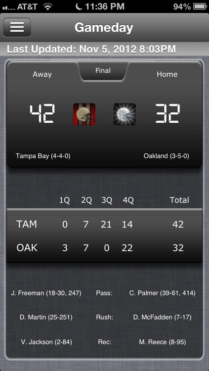 Oakland Football Live screenshot-0