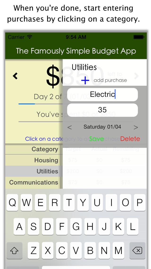 screenshot 3 for famously simple budget app colorful budget app for