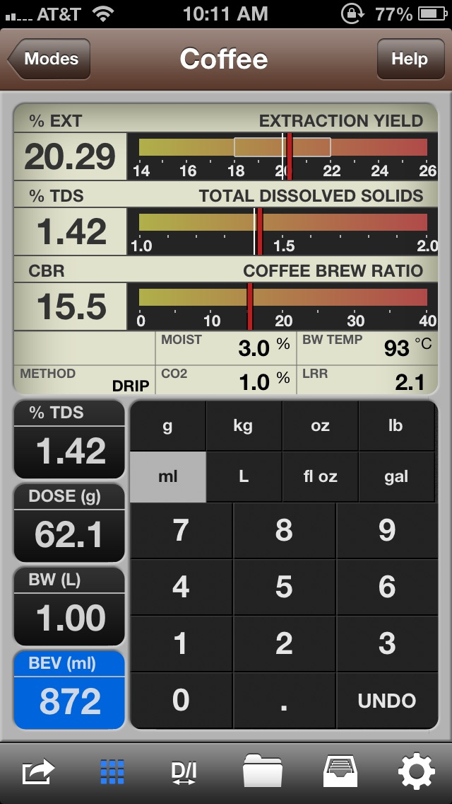 VST CoffeeTools for iPhone app image