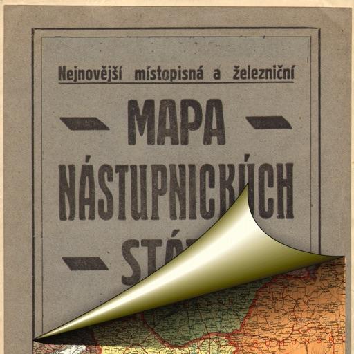 Austria-Hungary (1920). Historical map.