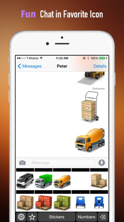 Logistics Theme Stickers Keyboard: Using Supply Chain Icons to Chat screenshot-3