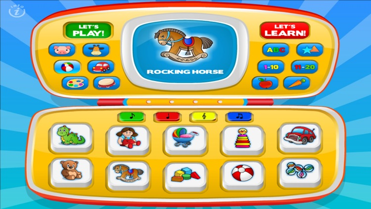 Magic Laptop Preschool All-In-One • Activity Kids Learning Toy Phone - TeachMe Farm and Zoo Animals, Colors, Shapes, Letters, Numbers, Vehicles, Alphabet, Toys, Fruits - Games for Baby, Toddler and Preschool Children by Abby Monkey® screenshot-4