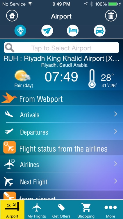 Riyadh King Kahlid Airport Pro (RUH) Flight Tracker Premium Saudi Arabian air radar airlines