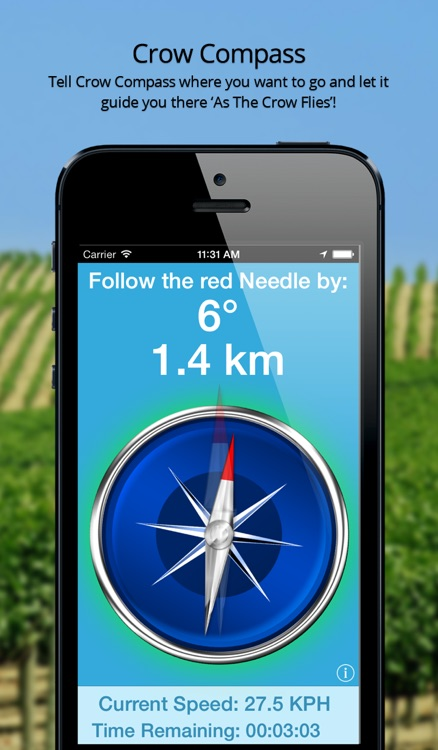 Crow Compass - As the Crow Flies GPS Navigation!