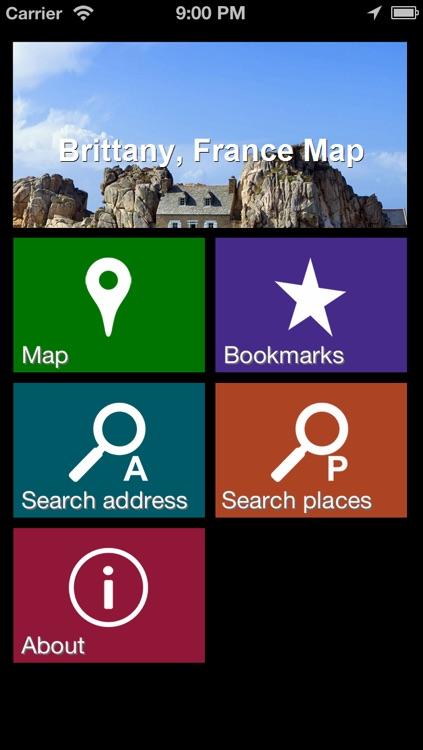 Offline Brittany, France Map - World Offline Maps