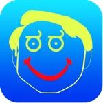 Tekening - allemaal in één foto effecten gekke koele beeld applicatie met Emojis en Emoticons