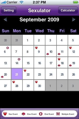 A Sexulator - Discrete Version - Sex Calculator & Calendar